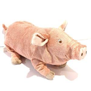 "IKEA KNORRIG pink pig plush 15"""